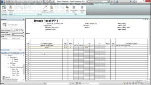 revit electrical panel schedule